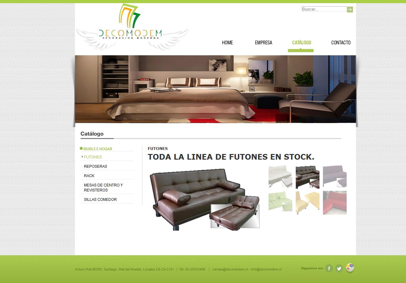 Dise O De Pagina Web Catalogo De Productos Agencia Creativa  # Muebles Pagina Web